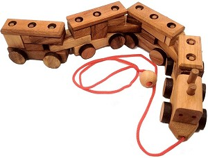 Construction Train - 3D Brain Teaser Wooden Puzzle