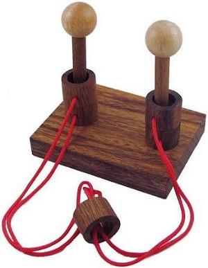 Gordian Duet - String Wooden Puzzle Brain Teaser