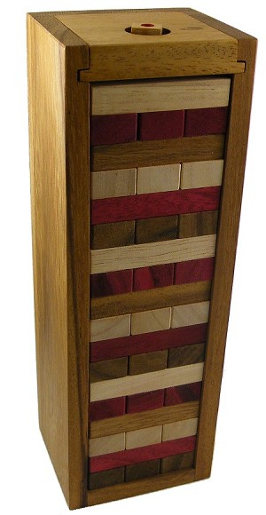 Jumbling Tower Triple Colors - Classic Wooden Game