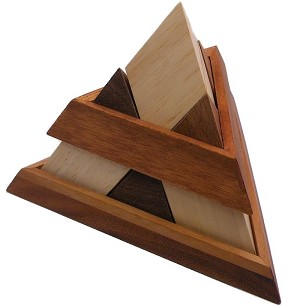 Luxor Egyptian Pyramid - Wooden Puzzle Brain Teaser