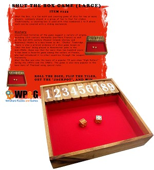 Shut The Box (Large) - Classic Game