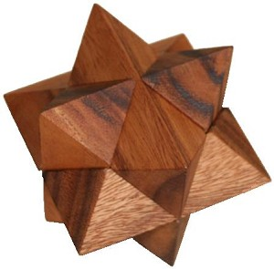 Star - Wooden Brain Teaser Puzzle