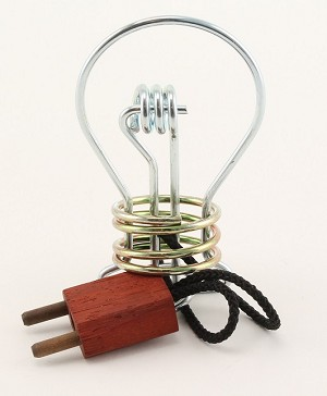 Light Bulb - Metal Wire String Puzzle