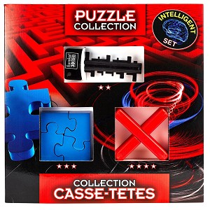 Intelligent Puzzle Collection - 3 Brain Teasers Puzzles Set