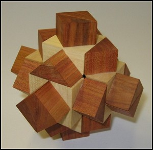 Two Storey Cross - Wooden Puzzle Brain Teaser