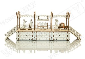 Railway Station - 3D Mechanical, Engineering Self-Assembled Puzzle