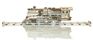 Express Train With Rails - 3D Mechanical, Engineering Self-Assembled Puzzle